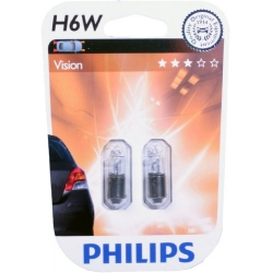 PHILIPS H6W Vision 12036B2 12V 6W 2ks