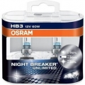 OSRAM HB3 NIGHT BREAKER UNLIMITED +110% 9005NBU-HCB 12V 60W 2ks