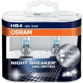OSRAM HB4 NIGHT BREAKER UNLIMITED +110% 9006NBU-HCB 12V 51W 2ks
